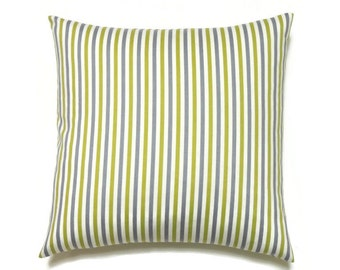 Striper Pillow Cover, 20x20 Pillow Cover, Decorative Pillows, Accent Sofa Striped Pillow, Robert Allen Best Candy Nickel