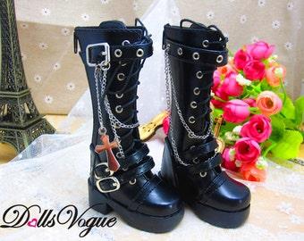 A41 -1/4 BJD Dollfie MSD Doll shoes Long Boots  Black
