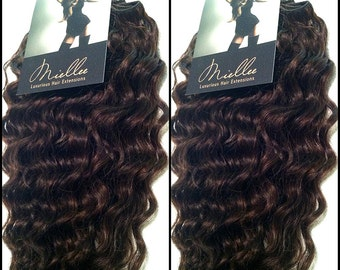 Clip In Hair Extensions / Virgin Brazilian Hair / Curly Texture / DYE OR BLEACH to any shade /10 Piece Clip In Set