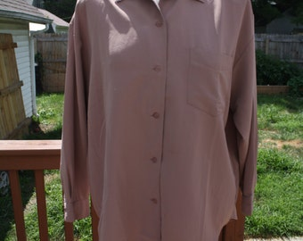 Mauve oversized blouse