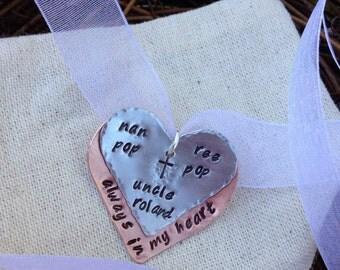 Custom Stamped Wedding Bouquet Memorial Charm