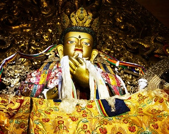 Gold Buddha from the Potala Palace in Lhasa, Tibet