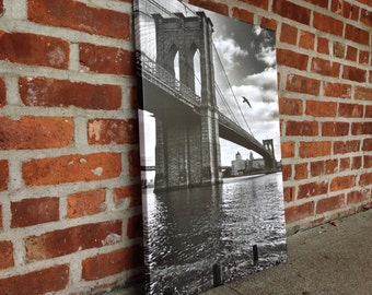 Gallery wrapped print 18x25, Brooklyn Bridge NYC