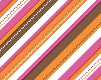 Striped Modern Fabric, Ampersand Design Studio, Cream and Sugar, Windham Fabrics, Modern Quilt Fabric, Pink Quilting Fabric by the Yard