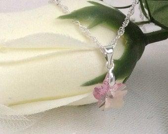 Girls Children's Kid's Special Occasion Jewelry Flower Girl Necklace - Swarovski Flower Crystal - Customize Wedding Bridal Party
