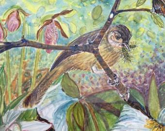 Northern Michigan Flora and Fauna watercolor