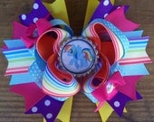 My Little Pony Rainbow Dash Inspired 5 Inch Stacked Boutique Bow