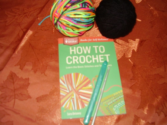 Crochet Yarn For Beginners : Crochet kit for beginners: book hooks and yarn by TenderTatter