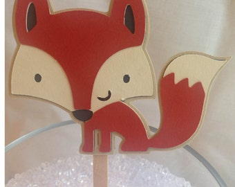 Woodland Creatures Cupcake Toppers ~ Fox ~ Forest Critters Baby Shower, Woodland Friends Birthday Party, Forest Themed Party Decorations