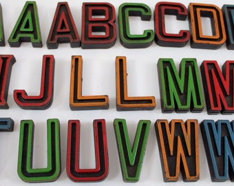 Vintage Small Plastic Alphabet Letters, sold separately