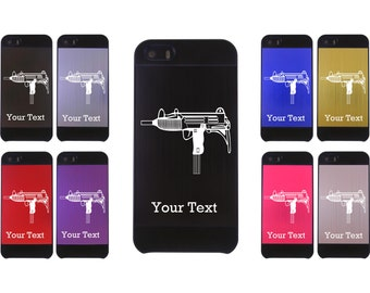 Personalized Engraved Uzi Aluminum Case for iPhone 4/4s or iPhone 5/5s