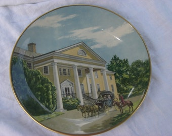 "Collector Plate - Gorham -  ""Montpelier"" - James Madison - Vintage"