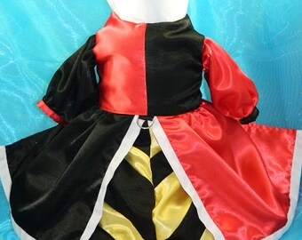 Queen of Hearts dog costume XXS-M