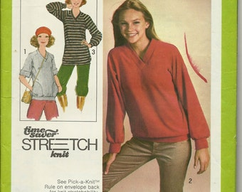 VTG 1970's  Simplicity 8618    Pull-over Tops in two lengths  Size 10,12,14   uncut