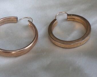 Mis-matched Gold Hoop Earrings