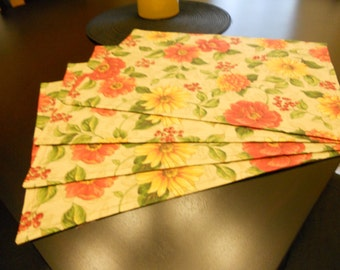 Set of 4 Harvest / thanksgiving place mats.