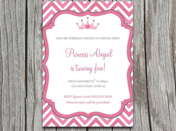 Birthday Party Invitation Template Princess Party Invitation – Princess Party Invitations Templates
