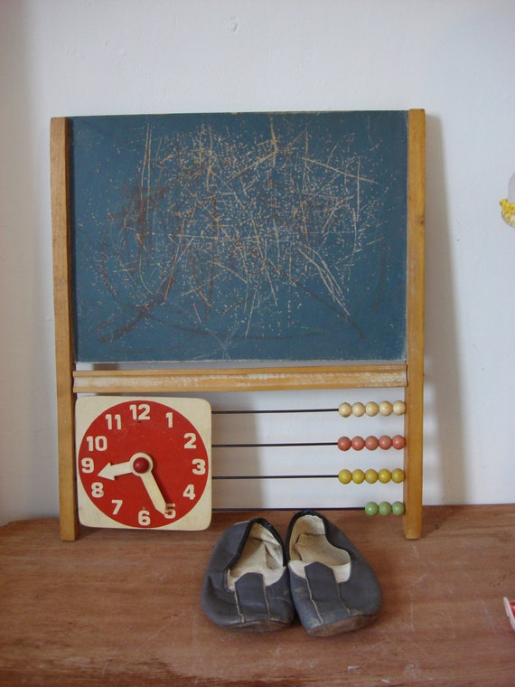 Vintage Baby Wall Decor : Vintage baby nursery kids wall art abacus by oldmoscowvintage