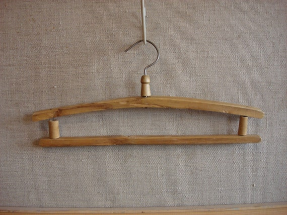Antique wooden hanger clothes hangers antique by oldmoscowgallery