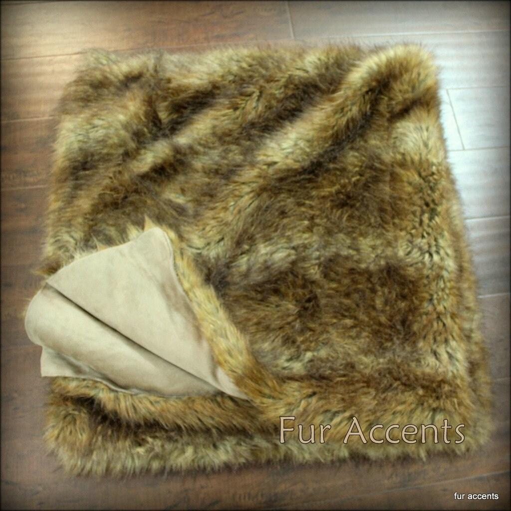 fourrure en peluche loup peau couvre lit couette. Black Bedroom Furniture Sets. Home Design Ideas
