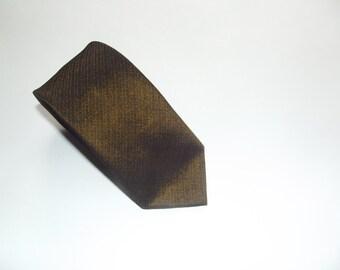 Vintage Olive Shimmering Necktie / Iridiscent Necktie / 1960s TREVIRA Skinny Tie