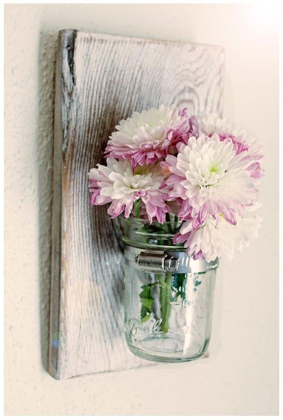 Mason Jar Sconce Mason Jar Vase Mason Jar Decor by BrandNewToMe