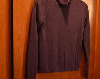 Vintage little Purple turtleneck, dark royal purple/amaranthine cold weather wear
