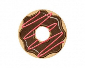 Donut Stripe Frosting Includes Both Applique and Stitched