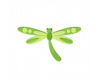 Green Dragonfly Machine Embroidery Design