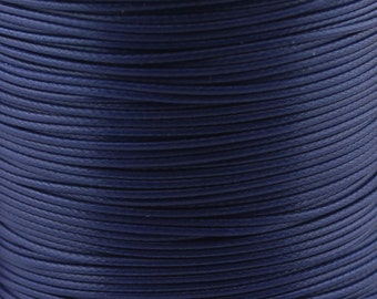 30 ft. 1.0/ 1.5/ 2.0mm Navy Blue Waxed Cotton Cord, Environmentally Friendly Materials
