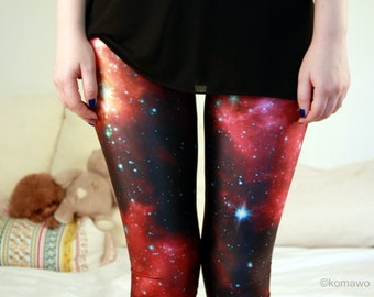 NEW PLANET GALAXY Leggings /Yoga Leggings /Red Color Bottoms/Womens Yoga pants/Boho Leggings/Women Stretch Leggings/Yoga Tights dz71