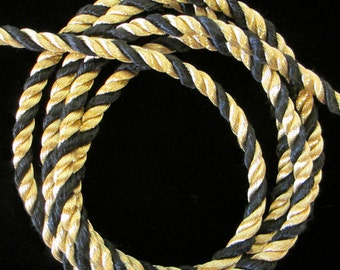 """303.1 Cord - bright gold and black 3/16"""" (5mm)"""