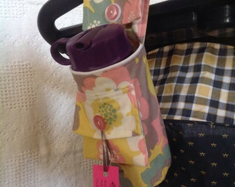 Baby Bottle- Water Bottle Holder for a Stroller with Pocket for ID and Key