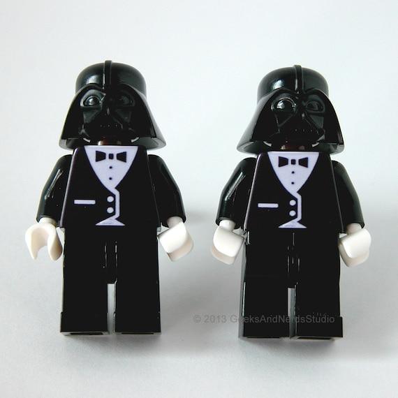 Star Wars Wedding Gifts: Lego Cufflink LEGO Bricks Star Wars Darth Vader Tuxedo