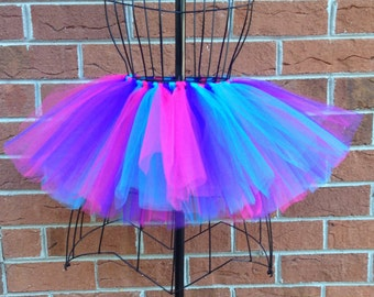 Lillie Tutu - Pink, Purple, and Blue Tutu - Available in Infant, Toddlers, Girls, Teenager and Adult Sizes