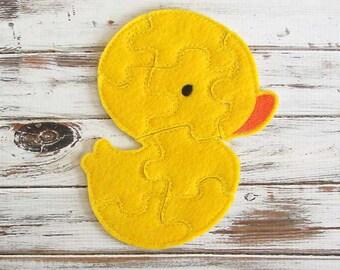 Kids Puzzle - Duck  - Toddler Puzzles - Felt Toy - Shape Puzzles - Educational Toy - Animal Puzzle
