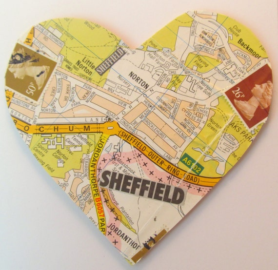 Sheffield map card by Pink Flamingo Handcrafting