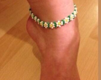 Anklet ankle bracelet Daisy boho hippie festival