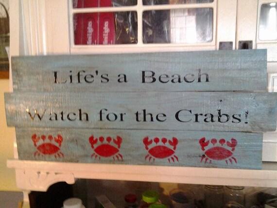 Outdoor Beach Signs Beach Sign Crab Sign Crabs