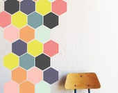 Bright Honey Comb - WALL DECAL