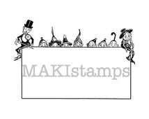 Big Brownie label rubber stamp / address field stamp / blank Ex Libris stamp / rubber only or cling stamp option  (140605)