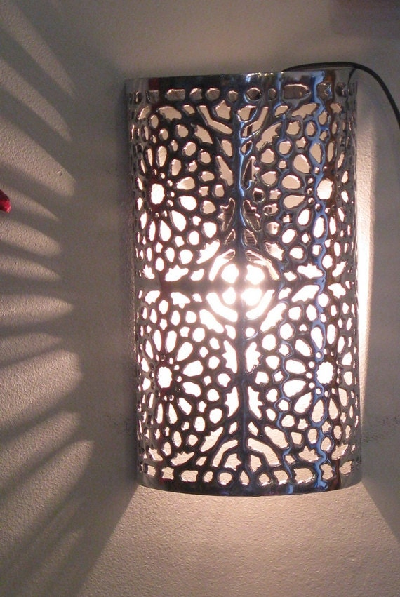 Moroccan Wall Lights Silver : Moroccan Wall Light Sconce Moroccan Wall by LeMarrakechStore