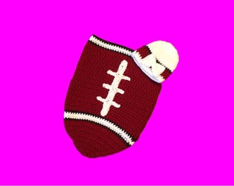 Arizona Fan Favorite Baby Girl Football Cocoon & Hat (Newborn to 3 Months)