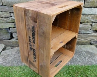 Large Timber Crate with Shelf