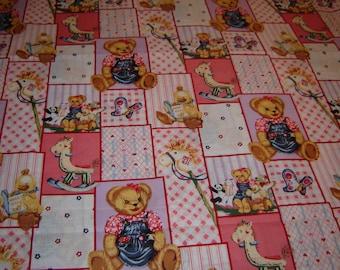 Per yard,  Blossom Bear fabric