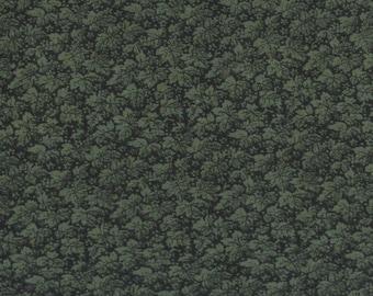 Per Yard, Deep Green Leaves Fabric From VIP