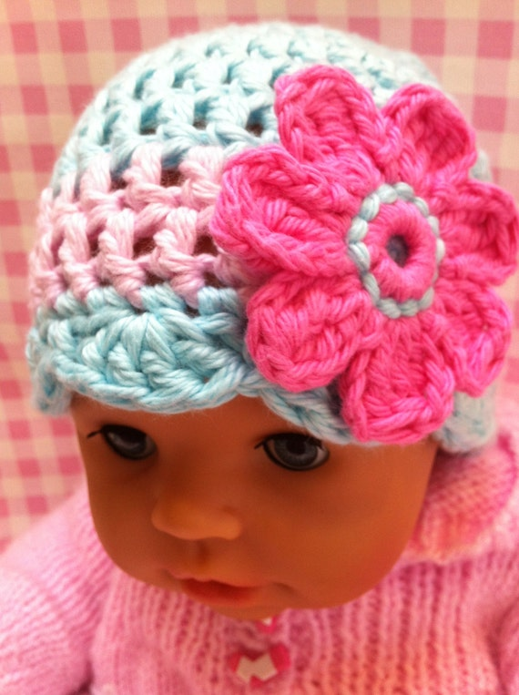 CROCHET BABY HAT Pattern - Oh so pretty - Crochet hat ...
