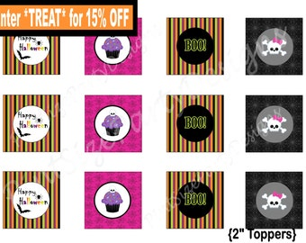 SALE-2' Halloween Cupcake Toppers