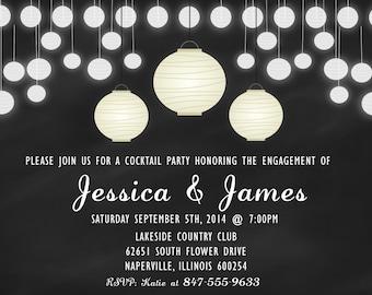 ENGAGEMENT Invitation (Digital File Print)