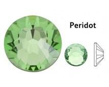 Swarovski Flatback Rhinestones, Swarovski Crystal Flatbacks, Peridot, SS20, 144 PCS, Crystal Rhinestones for Costume Design, 2028, 2058,